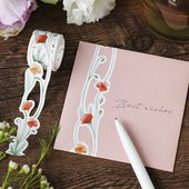 BGM Die-Cut Lace Tape Red Poppy