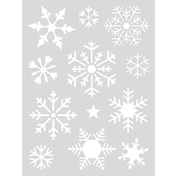 Paper Poetry Stencil Snow Flakes