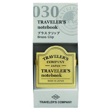 Traveler's Company Traveler's Notebook Regular - 030. Brass Clip - Logo
