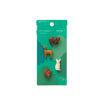 Midori Mini Magnets Forest Animals