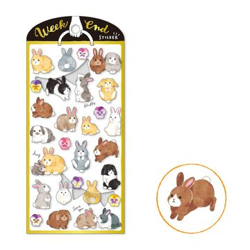 Mind Wave Weekend Masking Sticker Bunnies
