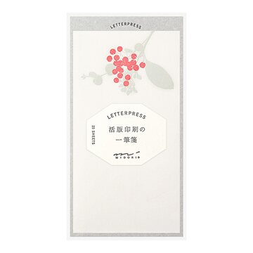 Midori One Stroke Letterpress Paper Set Bouquette Red