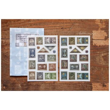 Lin Chia Ning Print-on stickers-Postage Stamp / 4 sheets