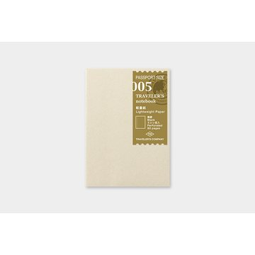 Traveler's Company Traveler's Notebook 005 Lightweight Paper Notebook (passport)