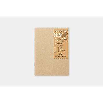 Traveler's Company Traveler's Notebook 009 Kraft Paper Refill (passport)