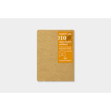 Traveler's Company Traveler's Notebook 010 Kraft Paper Folder (passport)