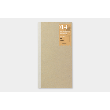 Traveler's Company Traveler's Notebook 014 Kraft Paper Notebook (regular)
