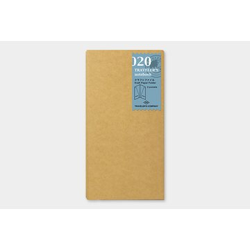 Traveler's Company Traveler's Notebook 020 Kraft Paper Folder (regular)