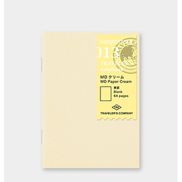 Traveler's Company Traveler's Notebook Passport size - 013. MD Paper Cream Refill