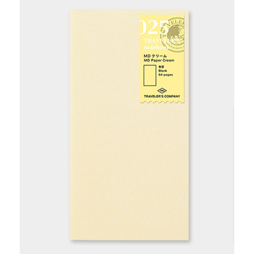 Traveler's Company Traveler's Notebook Regular - 025 MD Paper Cream Refill