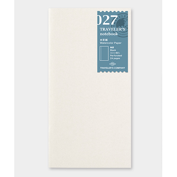 Traveler's Company Traveler's Notebook Regular - 027. Watercolor Paper Refill