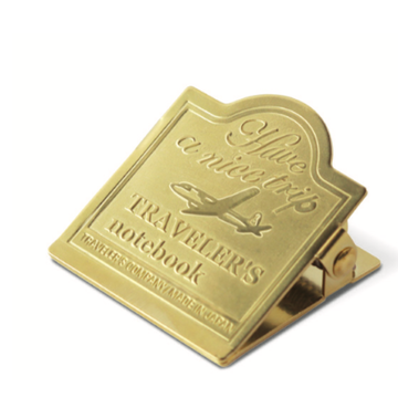 Traveler's Company Traveler's Notebook Regular - 030. Brass Clip - Airplane