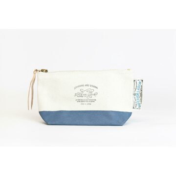 The Superior Labor Cotton Canvas Pouch 02 Blue Gray