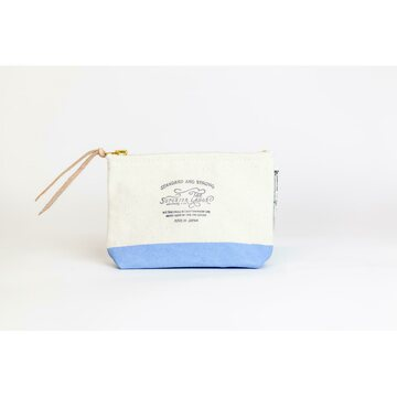 The Superior Labor Cotton Canvas Pouch 01 Light Blue