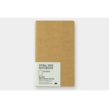 Traveler's Company TRC SPIRAL RING NOTEBOOK A5 Slim MD White
