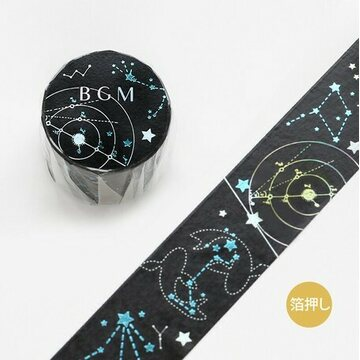 BGM Night Constellation 30mm Foil Washitape