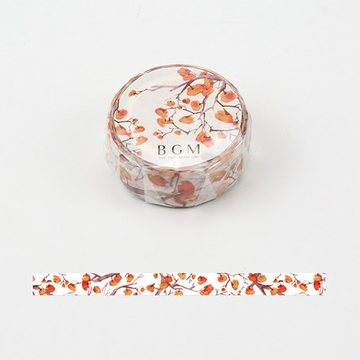 BGM Four Seasons Frost Persimmon Washi Tape