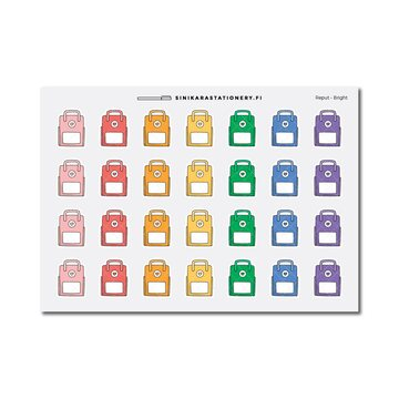 Sinikara Stationery Planner Stickers Back Bags (Bright)