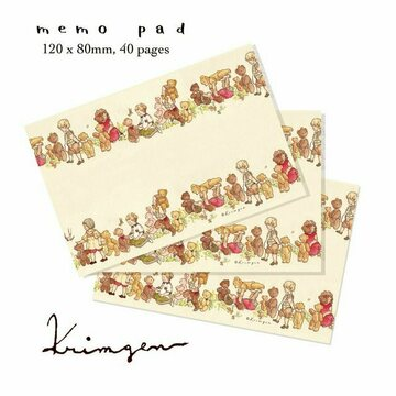 Krimgen Memopad Kids and Teddybears