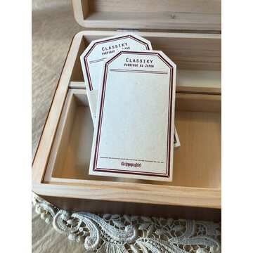 Classiky Letterpress Label Card - Burgundy Red