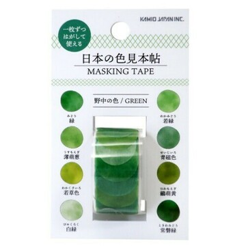 Kamio Japan Masking Sticker Dots Roll Green