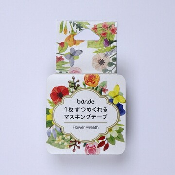 Bande Washi Roll Sticker  Washitarra Flower Wreath