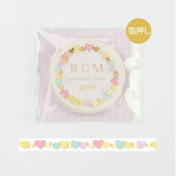 BGM 5mm Washitape Little Color Hearts Foil
