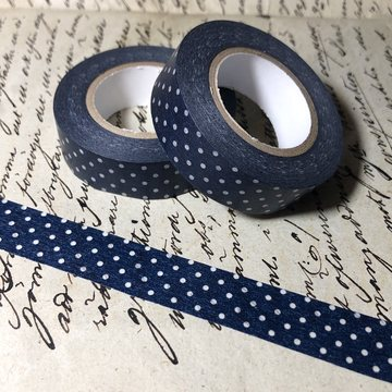 Classiky Pin Dots Washitape - Dark Blue