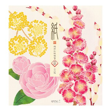 Midori Seasonal Letterpaper Winter Flowers