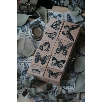 Lin Chia Ning Butterfly Rubberstamp Set