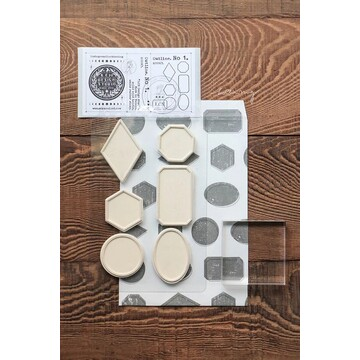 Lin Chia Ning Mounted Rubberstamps Set - Outline No. 1