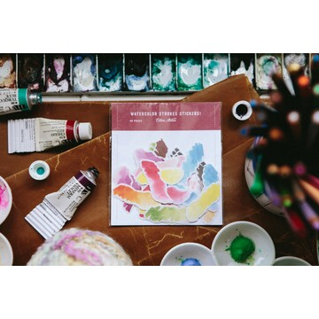 OURS Watercolor Strokes Sticker Pack
