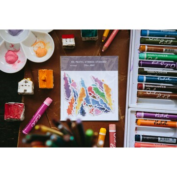 OURS Crayon Strokes Sticker Pack