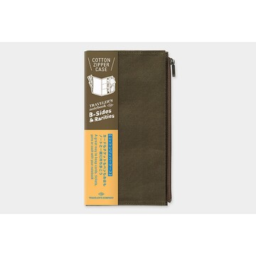 Traveler's Company TRAVELER'S NOTEBOOK Cotton Zipper Case Olive (Regular) B-Sides & Rarities LTD Edition