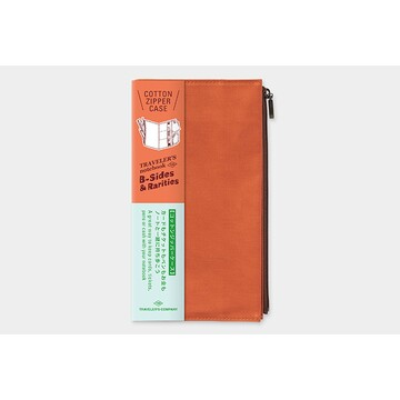 Traveler's Company TRAVELER'S NOTEBOOK Cotton Zipper Case Orange (Regular) B-Sides & Rarities LTD Edition