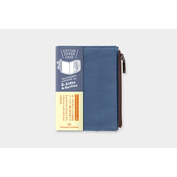 Traveler's Company TRAVELER'S Notebook Cotton Zipper Case refill Blue (Passport) B-Sides & Rarities LTD Edition