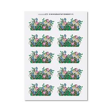 Sinikara Stationery Planner Stickers Spring Plants