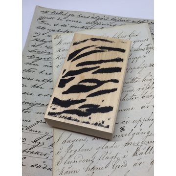 Kodomo no kao Rubberstamp zebra stripes
