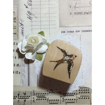 Kodomo no kao Rubberstamp - flying swallow bird