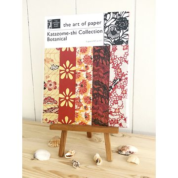 Japanese Paper Place Katazome-Shi Botanical Collection of Japanese Paper - red/orange