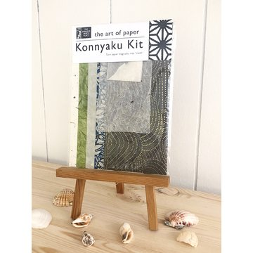 Japanese Paper Place Konnyaku Kit - Turn Paper into Cloth set - neutral colors