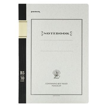 Penco PENCO Foolscap Notebook black B5 Ruled pages