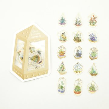 BGM Washi Sticker Flakes Forest Story Flower Foil