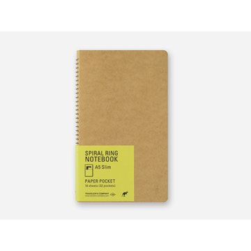 Traveler's Company SPIRAL RING NOTEBOOK <A5 Slim> Paper Pocket