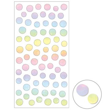 Mind Wave Small Rainbow Ombre Dots Masking Sticker