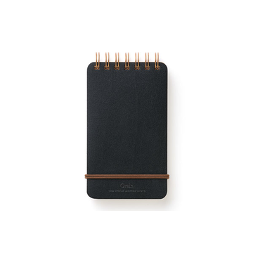 Midori WM Grain Ring Memo Notepad Black
