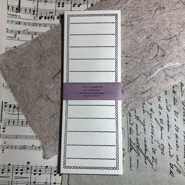 Classiky Letterpress Memo Card Foldable Purple