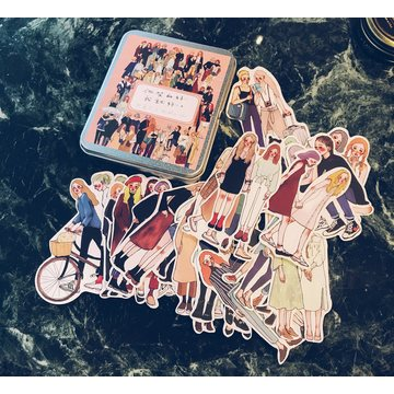 La Dolce Vita You and Me 25 pcs Sticker Set in a Metal Tin