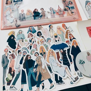 La Dolce Vita Dearest 30 pcs Sticker Set in a Metal Tin