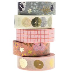 Paper Poetry Washitape Mix Crafted Nature 5 pcs